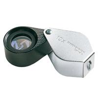 虫眼鏡 精密 繰り出しルーペ [folding metal magnifiers] 10倍 17mm 工業用精密検査用 118410