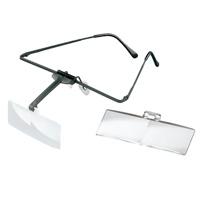 ラボ・フレーム [labo-med] フレーム+レンズ2枚セット 1.7・2倍 眼鏡のように耳に掛ける フレームタイプ 両眼レンズ 1644501 ヘッドルーペより気軽です エッシェンバッハ