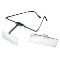 ラボ・フレーム [labo-med] フレーム+レンズ2枚セット 2・2.5倍 眼鏡のように耳に掛ける フレームタイプ 両眼レンズ 1644512  ヘッドルーペより気軽です エッシェンバッハ