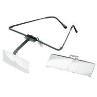 ラボ・フレーム [labo-med] フレーム+レンズ2枚セット 2・3倍 眼鏡のように耳に掛ける フレームタイプ 両眼レンズ 1644513 ヘッドルーペより気軽です エッシェンバッハ