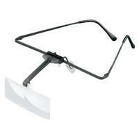 ラボ・フレーム [labo-med] フレーム + レンズ 1枚セット 2.5倍 眼鏡のように耳に掛ける フレームタイプ 両眼レンズ 164452  ヘッドルーペより気軽です エッシェンバッハ