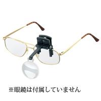 眼鏡にはさむ クリップタイプ ラボ・クリップ [labo-clip] クリップ+レンズ1枚セット 4倍 片眼レンズ 164640  ヘッドルーペより気軽です エッシェンバッハ