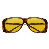 オーバーサングラス イエロー 小 紫外線を防ぐサングラス 16604501 保護メガネ 粉じん UVカット メガネの上から [cut-off filter spectacles] 紫外線カット