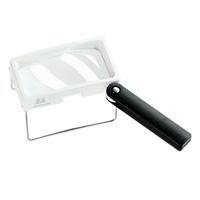 虫眼鏡 卓上置き型ハンドスタンドルーペ 2.6倍 50×100mm 2031 ルーペ スタンド ハンドルーペ [combi-plus]