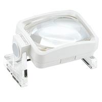 虫眼鏡 大きいレンズ 置型 ルーペ デスクリーダー [viso-lux] 2.8X・3.8X 75×100mm 263611