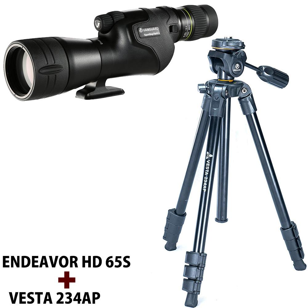 エンデバーHD65S三脚セット 15〜45倍 65mm バンガード フィールドスコープ 入門セット 野鳥 観察 バードウォッチング レジャー 探鳥会