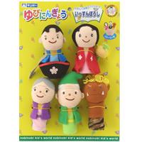 ゆびにんぎょう いっすんぼうし 日本のおとぎ話 ストーリー付き まなびっこ 一寸法師 知育玩具 3歳 4歳 人形劇 指人形 学芸会 お遊戯会 演劇 発表会