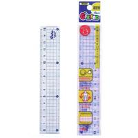 直定規 18cm 児童用 読み取りやすいガイド線付 G-FRIEND 文房具 さし 定規 ものさし 文房具 児童用