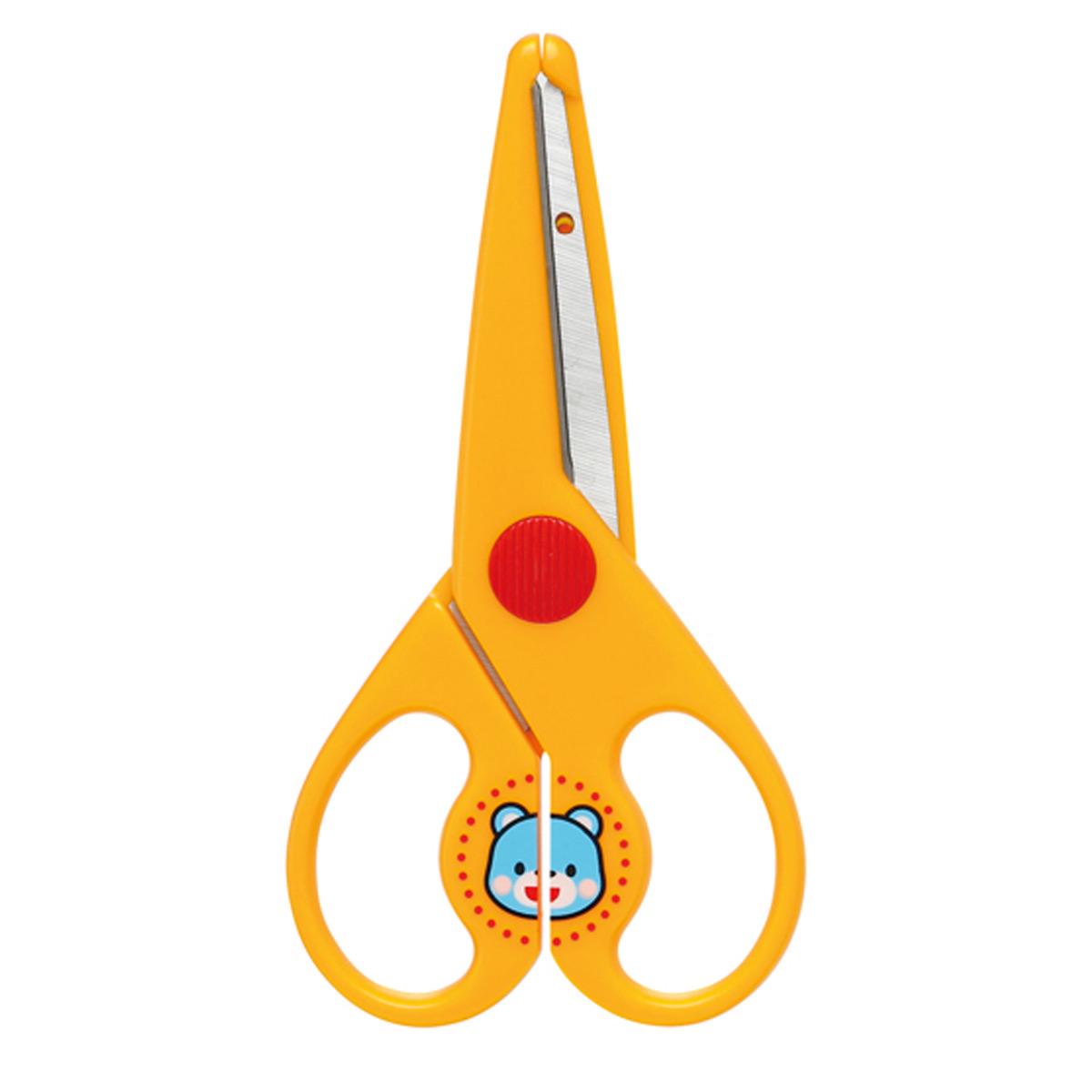 黄 かみきりくん幼児用 はさみ 安全ガード付 ギンポー 文房具 きる はさみ 文具 幼児用 工作