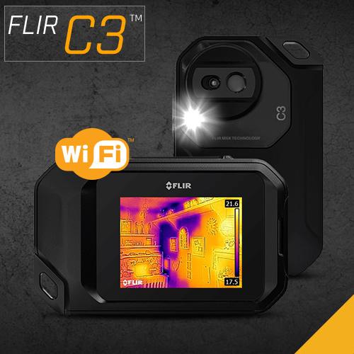 5239c549a1 赤外線サーモグラフィ コンパクト フリアー FLIR C3 WiFi対応 温度計測 赤外線サーモグラフィカメラ パソコン iPad 日本