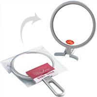折立 ハンドミラー NA-003 ナピュアミラー 鏡 かがみ 卓上鏡 スタンドミラー 特許取得 毛穴 シミ シワ メイク プロ仕様 堀内鏡工業