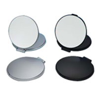 コンパクトミラー 拡大鏡 メイク [拡大ミラー] ナピュアミラー [鏡] リアルズームアップ プラス 両面 2倍 RC-02 折りたたみ 老眼 堀内鏡工業