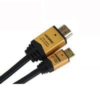 HORIC ハイスピードHDMI-MINIケーブル イーサネット対応 1.0m タイプA-タイプC ゴールド ホーリック