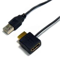 HORIC HDMI電源アダプタ HDMI標準オス・メス-USB標準オスコネクタ ホーリック