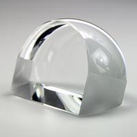 ペーパーウェイトルーペ 大 文鎮 角型 3倍 クリスタルガラス ルーペ 拡大鏡 虫眼鏡 池田レンズ
