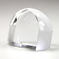 ペーパーウェイトルーペ 小 文鎮 角型 5倍 クリスタルガラス ルーペ 拡大鏡 虫眼鏡 池田レンズ