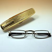 老眼鏡 [シニアグラス] カンダオプティカル スライト ゴールド 強度強度 男性 おしゃれ