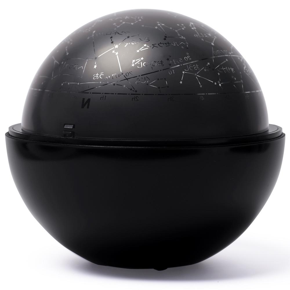 ホームプラネタリウム 家庭用 スターサテライト Rブラック 回転式 星空 おもちゃ 玩具 子供 部屋 天井 星座名 星座線 北天 夜空 投影 インテリア 学習