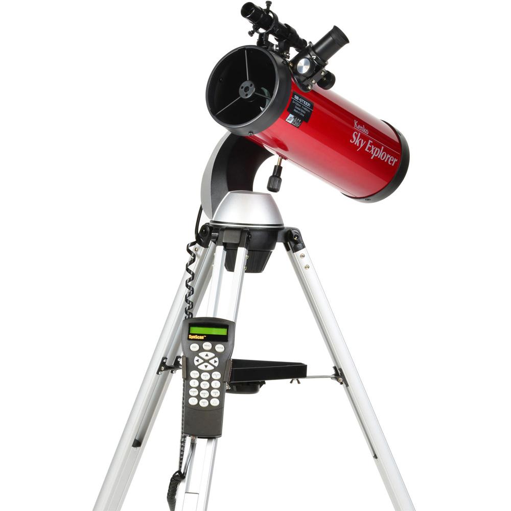 天体望遠鏡 ケンコー 反射式 Sky Explorer スカイエクスプローラー SE-GT100N II 初心者 小学生 子供 自動追尾 経緯台式 自動導入