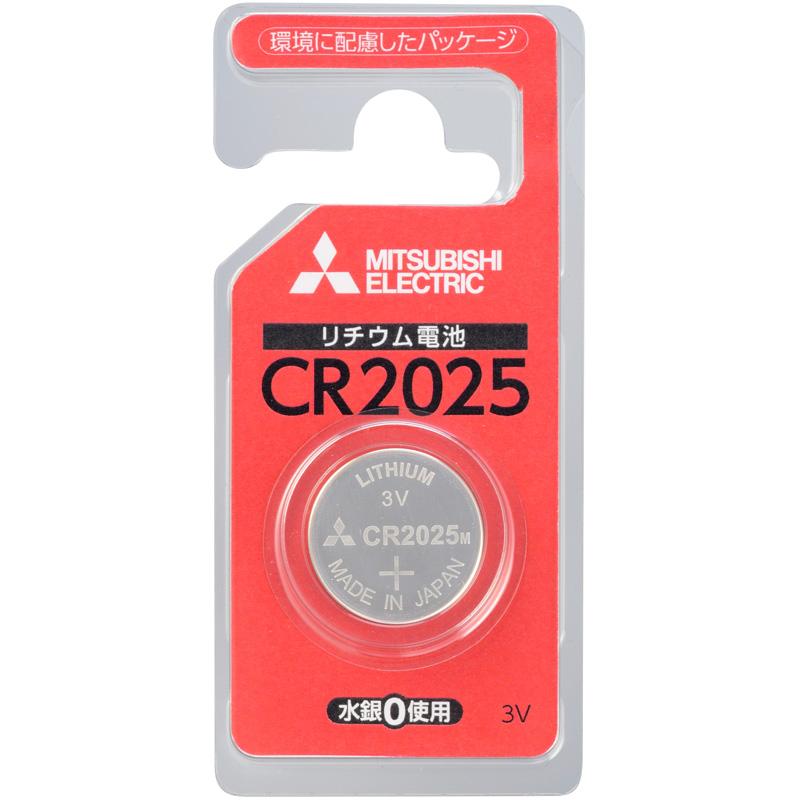 リチウムコイン電池 リチウム電池 コイン電池 CR2025D/1BP 三菱 cr2025