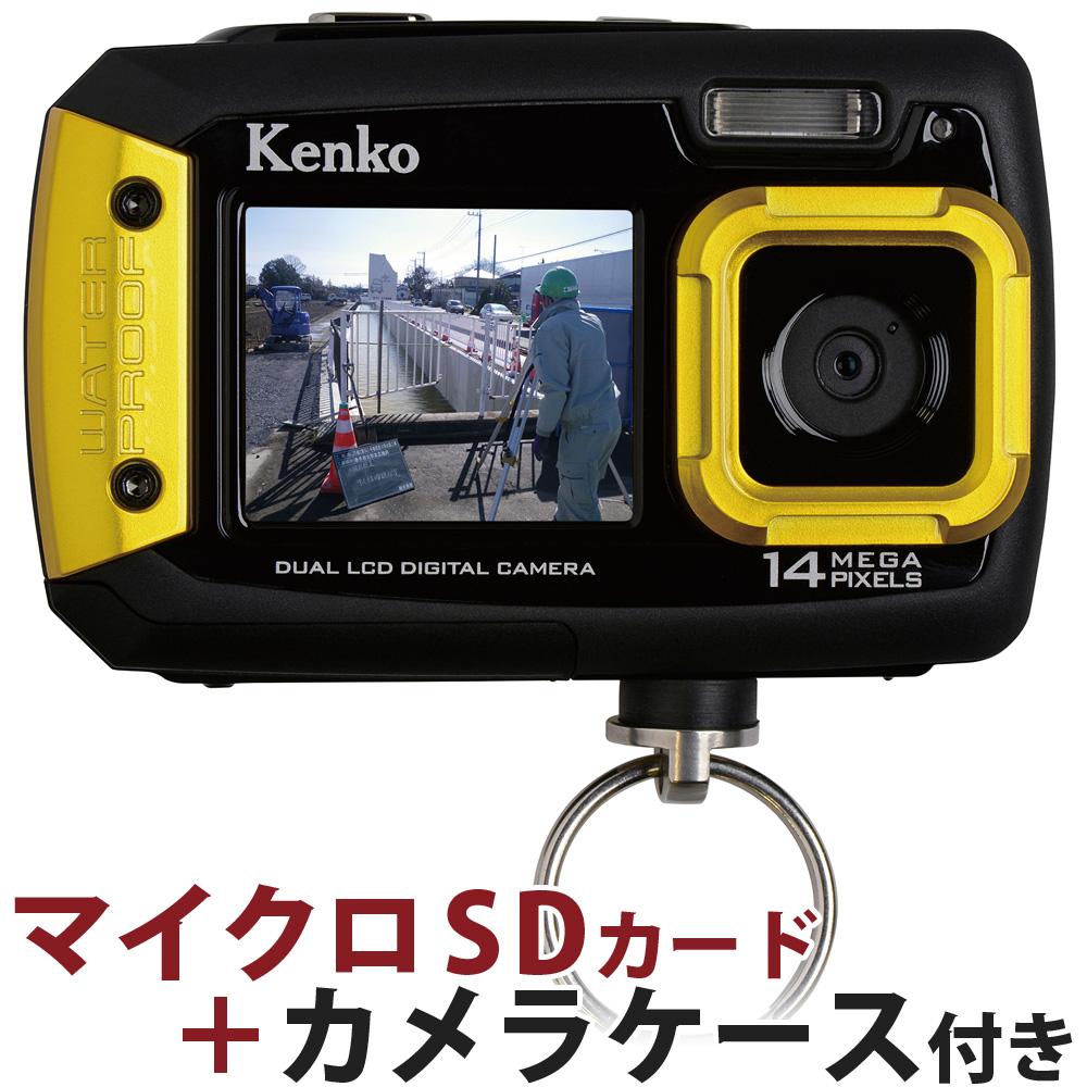 水中カメラ 防水カメラ 小型 デジタルカメラ 水深3m 約1400万画素 マイクロSDカード8GB付 アクションカメラ 本体 microsd ポーチ ケース レンズクロス おすすめ 人気 防塵 耐衝撃 キッズ 小型 アウトドア 水中