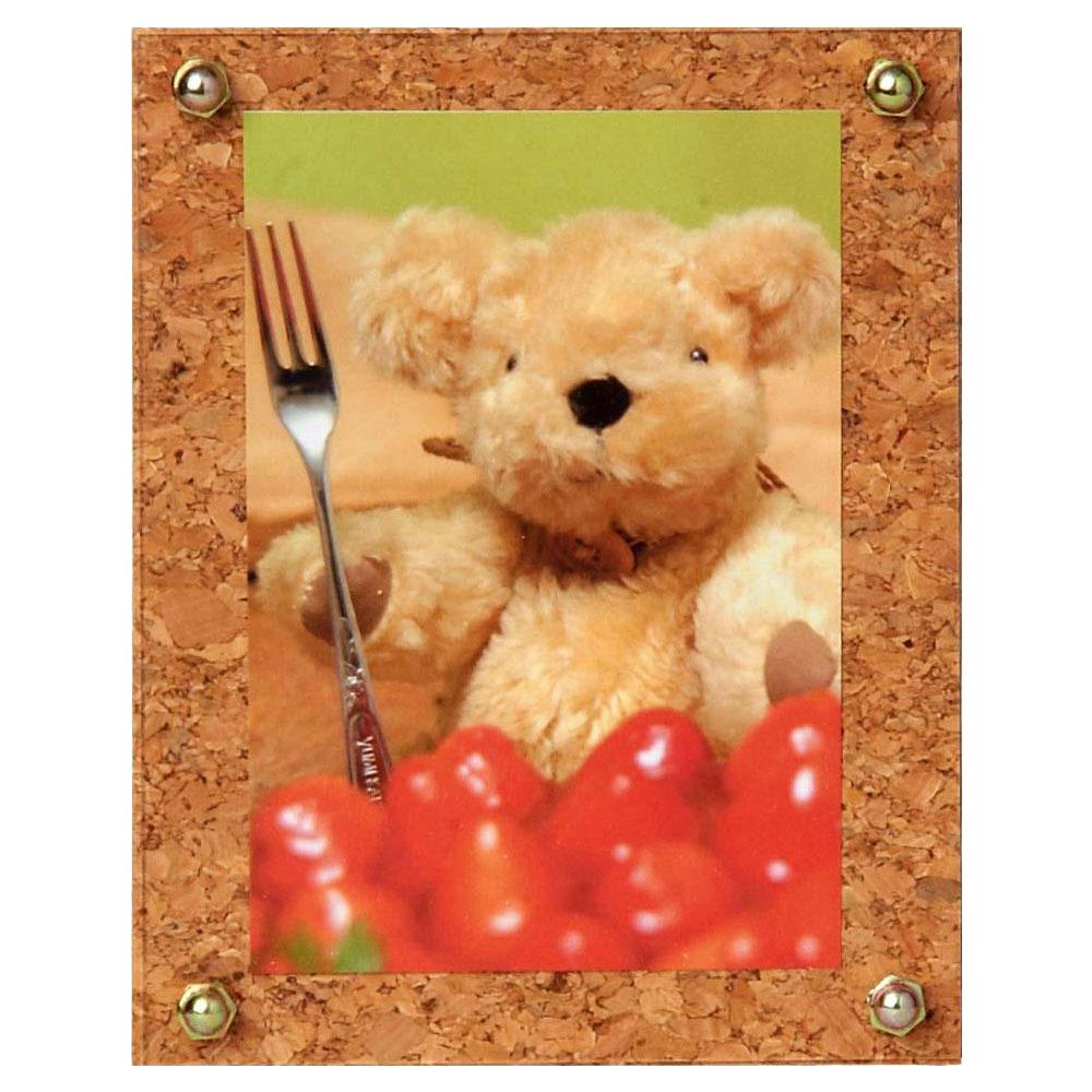 写真立て 木製フレーム コルク E (L) DNPフォトイメージング フォトフレーム おしゃれ プレゼント 結婚祝い 出産祝い 赤ちゃん かわいい