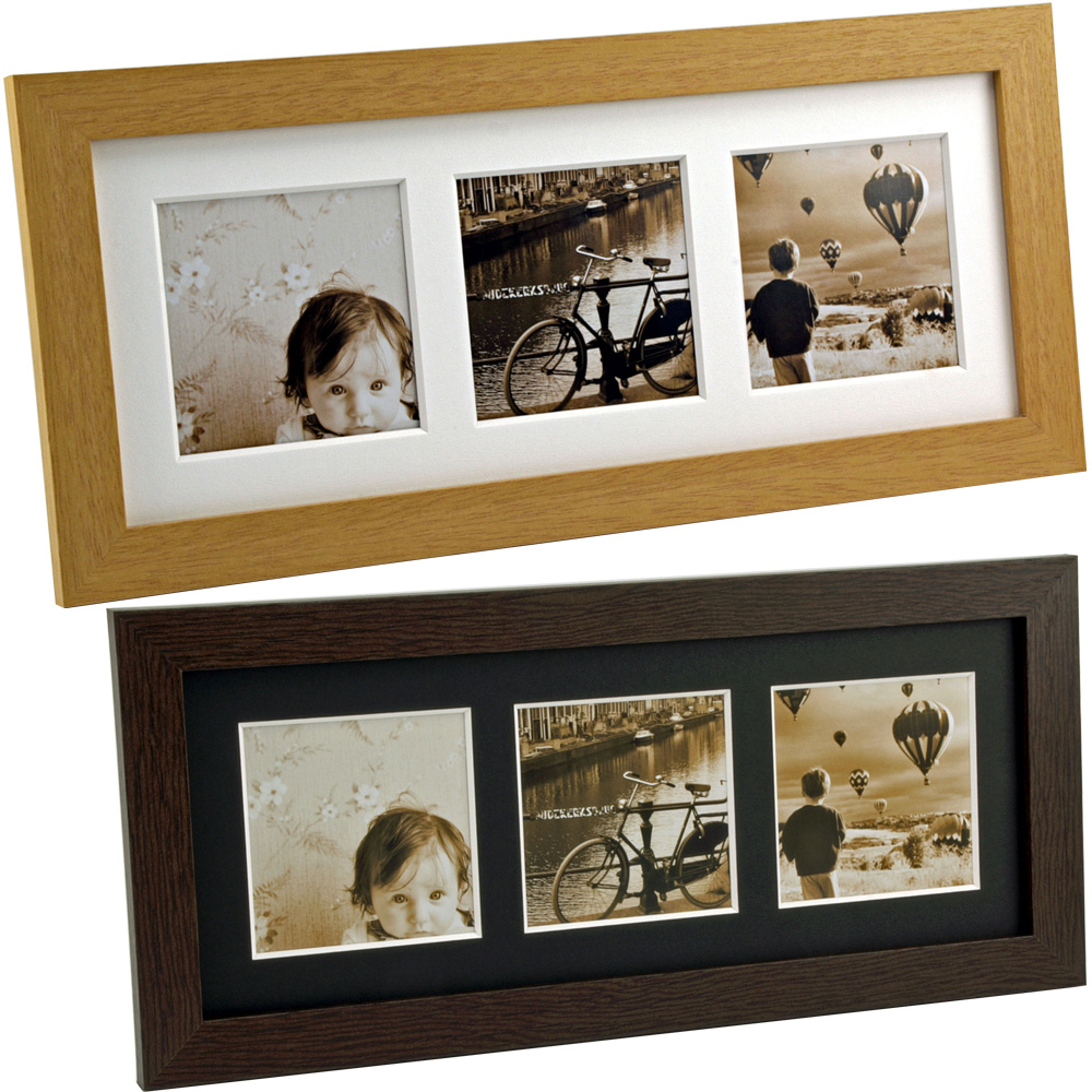 ましかく窓フレーム 3窓 フォトフレーム 写真立て 額縁 おしゃれ 木製 プレゼント 結婚祝い かわいい