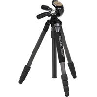 スリック 三脚 ライトカ-ボン E84 SLIK 一眼レフ ミラーレス ビデオカメラ コンパクト 雲台 カーボン三脚
