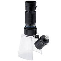 LEDライト付き マイクロスコープ KM-616LS 20倍 小型顕微鏡 ギャラリースコープ[KM-616] LEDライト付きルーペスタンド[KM-1LED] セット 池田レンズ
