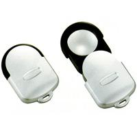 虫眼鏡 スライドルーペW 2.5倍&3.5倍&5倍 33mm 携帯用 ポケットルーペ 拡大鏡 池田レンズ