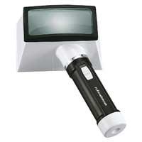 虫眼鏡 拡大鏡 フラッシュルーペ M-50 2.5倍 45×90mm [角型] ライト付 池田レンズ