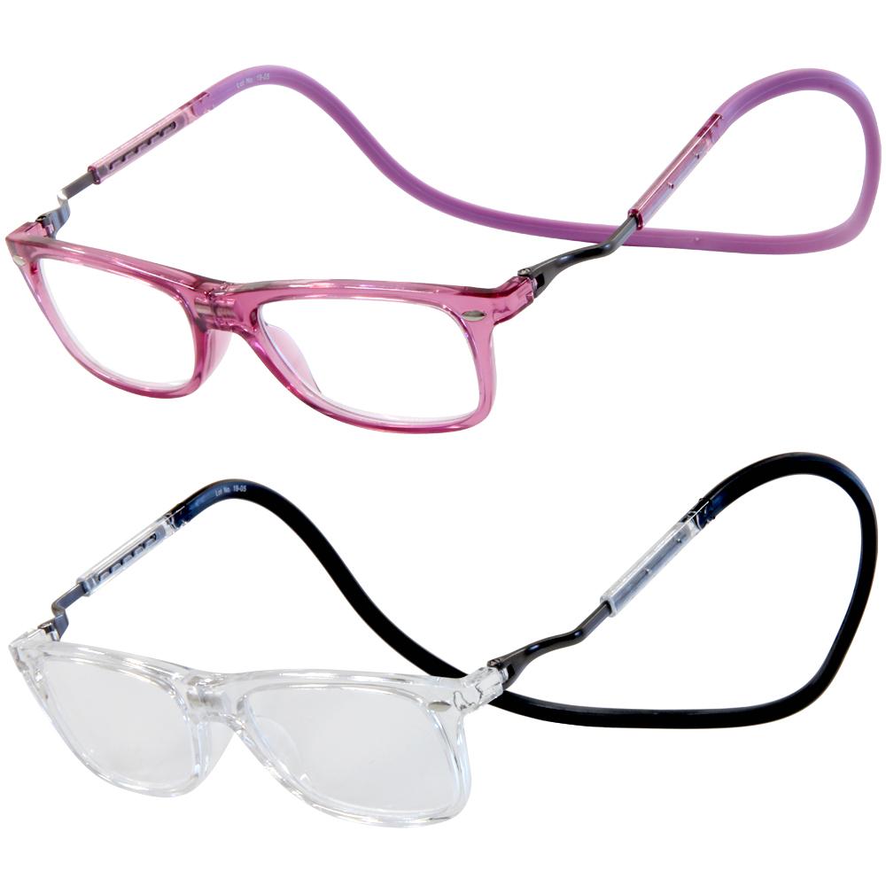 老眼鏡 おしゃれ 携帯 折りたたみ コンパクト シニアグラス リーディンググラス eye Need 伸びる 首掛け 首にかけられる マグネット 磁石 落ちない スマート