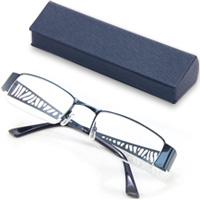 老眼鏡 シニアグラス SG-04BLr7507 ブルー 眼鏡ケース付き リーディンググラス 男性 女性 おしゃれ