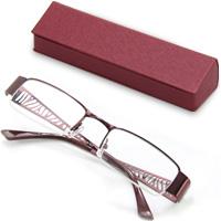 老眼鏡 シニアグラス SG-04RDr7507 レッド 眼鏡ケース付き リーディンググラス 男性 女性 おしゃれ