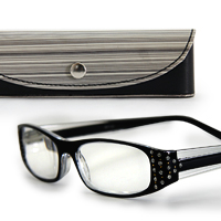 老眼鏡 シニアグラス 老眼鏡 SG-05BK 専用ケース付き リーディンググラス [ブラック]