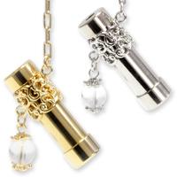 ラリエット型 万華鏡 ペンダント ネックレス 水晶