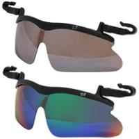 らくらく 帽子掛け偏光レンズ サングラス キャップグラス 偏光サングラス 跳ね上げ ゴルフ UV カット