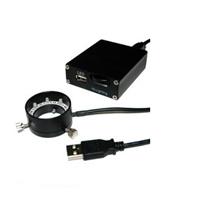 エヌエスライティング USB LED照明 コントローラーセット φ28リングUSB LED照明セット LED 8灯 LRF-40/28W-USB501SET