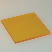 HOYA製 光学フィルター シャープカットフィルター 黄色 Y-50 50X50 t=2.5 光学ガラスフィルター [エヌエスライティング]