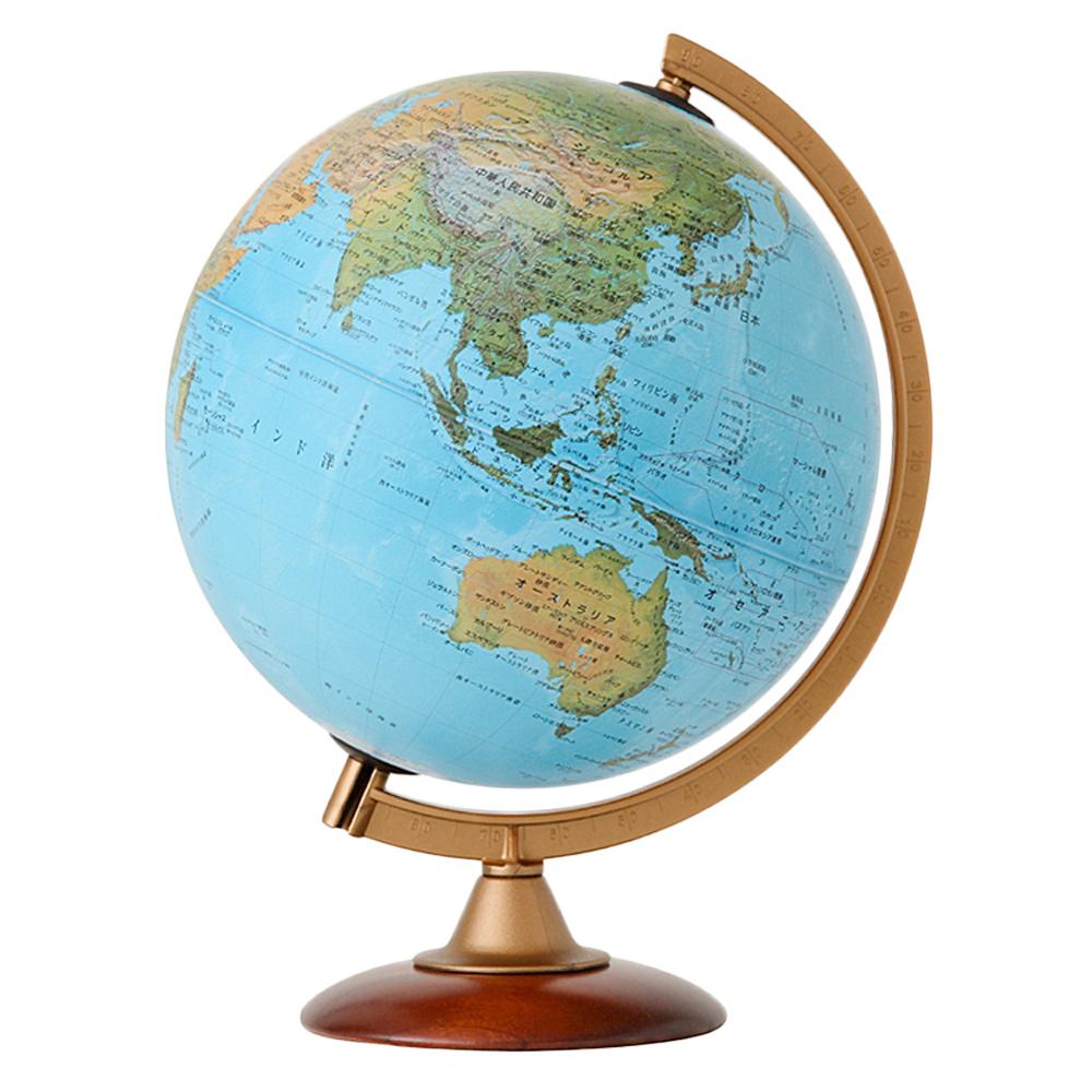 地球儀 インテリア 子供用 学習 地勢図 球径25cm