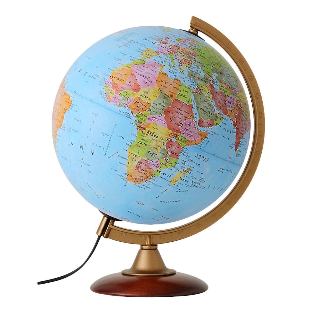 地球儀 25cm行政図 [ライト付き] 子供用 学習 インテリア 入学祝い 小学校 イタリア製 クリスマスプレゼント
