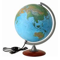 地球儀 ライト付き 子供用 学習 インテリア スペース30L 入学祝い 小学校 地勢図 球径30cm イタリア製