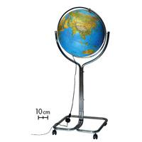 ライト付き 地球儀 インテリア ジーオ50 地勢図 球径50cm イタリア製