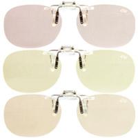 PC用クリップグラス 青色光線軽減レンズ エロイコ ナチュレ NR-27 パソコンメガネ ブルーライトカット 軽量 眼鏡 跳ね上げ PCメガネ メガネの上から