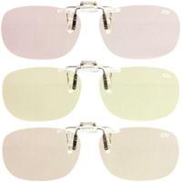 PC用クリップグラス 青色光線軽減レンズ エロイコ ナチュレ NR-28 パソコンメガネ ブルーライトカット 軽量 眼鏡 跳ね上げ PCメガネ メガネの上から