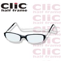 老眼鏡 [シニアグラス] clic half [クリックハーフ] ブラック