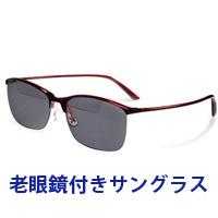 老眼鏡付き 偏光サングラス Top View トップビュー バイフォーカルグラス TP-10 グレー 偏光グラス