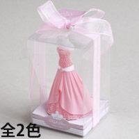 アロマキャンドル ウェディングドレス [ローズの香り] バロエ デコレーション キャンドル ブライダル アロマ