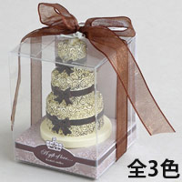 アロマキャンドル ウェディングケーキ [ローズの香り] バロエ デコレーション キャンドル ブライダル アロマ