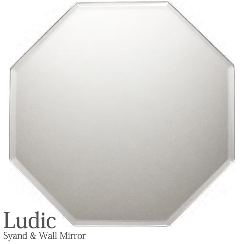 ルディック 八角 スタンド&ウォールミラー 風水八角 開運ミラー 八角形 風水ミラー
